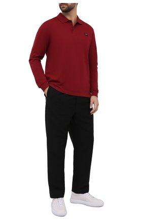 Мужское хлопковое поло PAUL&SHARK бордового цвета, арт. C0P1001/C00 | Фото 2