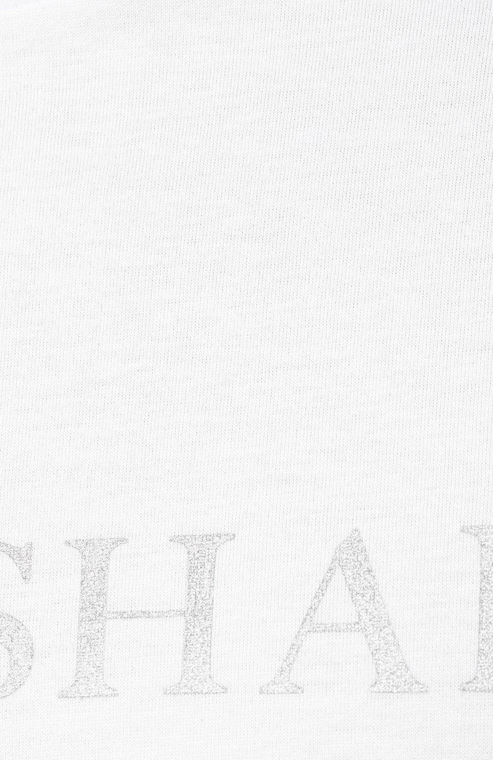 Мужская хлопковая футболка PAUL&SHARK белого цвета, арт. A19P1629 | Фото 5