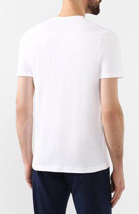 Мужская хлопковая футболка PAUL&SHARK белого цвета, арт. A19P1601 | Фото 4