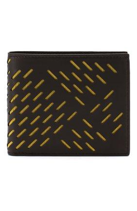 Мужской кожаное портмоне BOTTEGA VENETA темно-коричневого цвета, арт. 113993/VB0Y2 | Фото 1