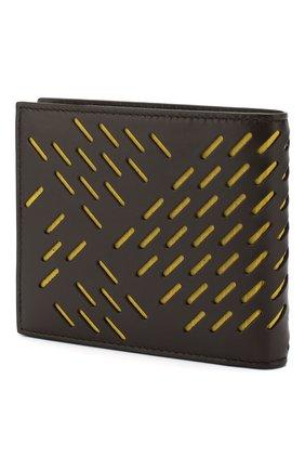 Мужской кожаное портмоне BOTTEGA VENETA темно-коричневого цвета, арт. 113993/VB0Y2 | Фото 2