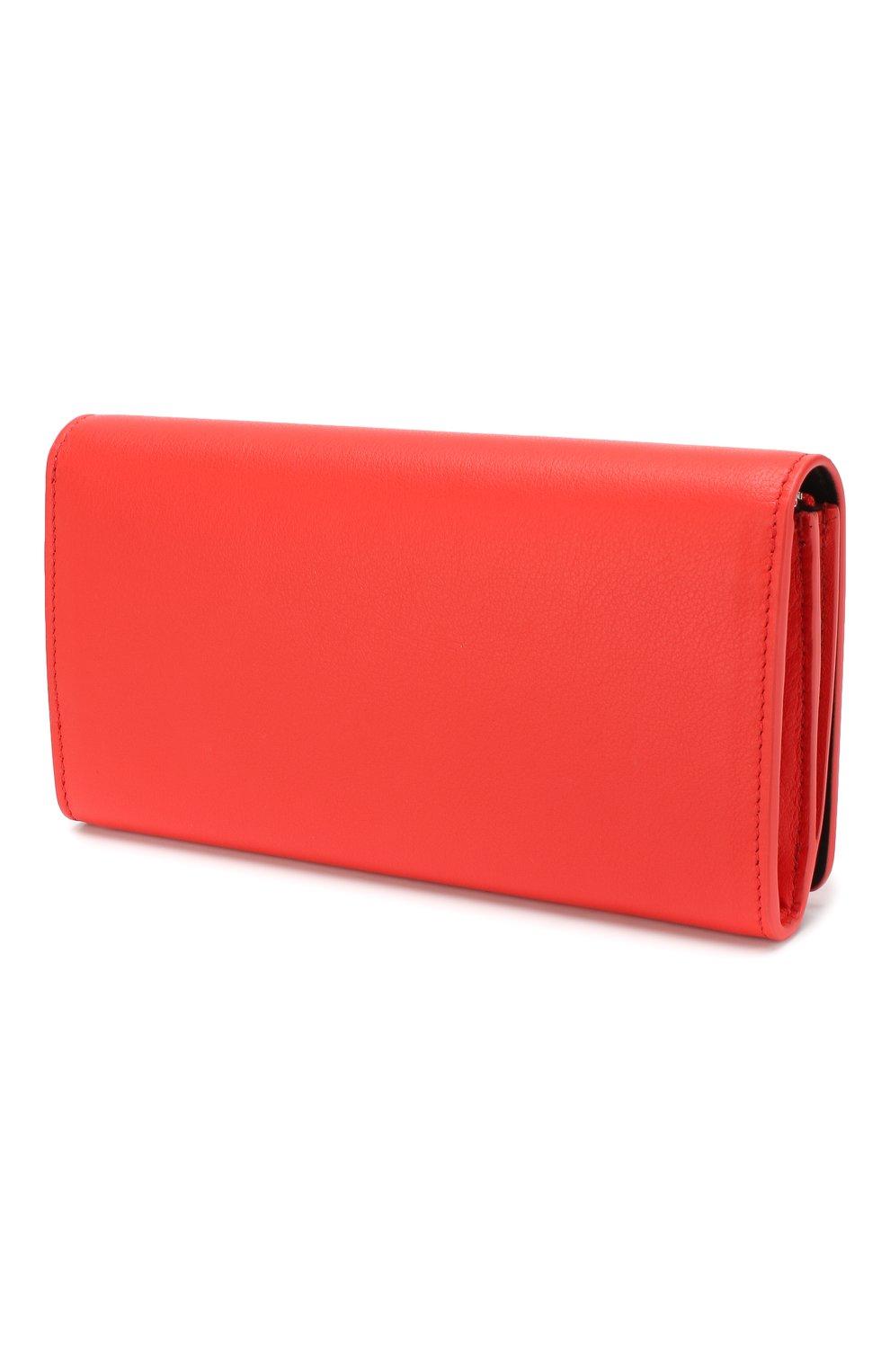 Женские кожаный кошелек everyday BALENCIAGA красного цвета, арт. 555709/DLQ4N | Фото 2