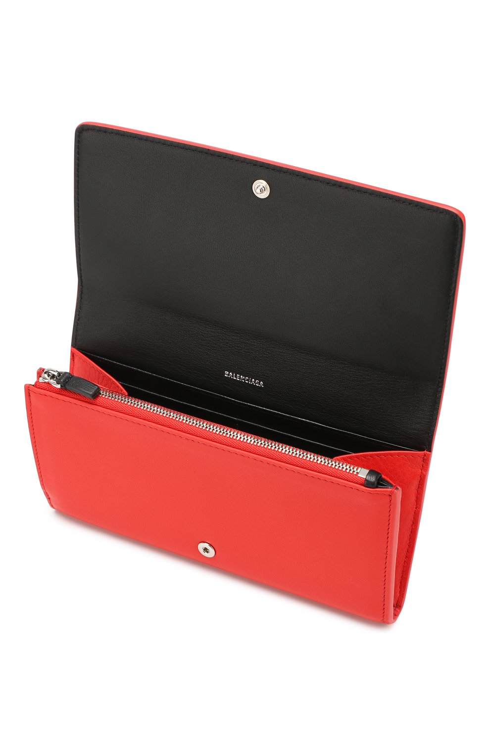 Женские кожаный кошелек everyday BALENCIAGA красного цвета, арт. 555709/DLQ4N | Фото 3