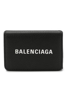 Женские кожаное портмоне everyday BALENCIAGA черного цвета, арт. 551921/DLQ4N | Фото 1