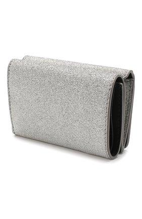 Женские кожаное портмоне everyday BALENCIAGA серебряного цвета, арт. 551921/0XV3N | Фото 2