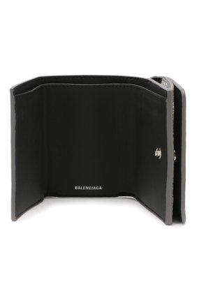 Женские кожаное портмоне everyday BALENCIAGA серебряного цвета, арт. 551921/0XV3N | Фото 3