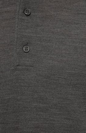 Мужское шерстяное поло PAUL&SHARK серого цвета, арт. C0P1050/FLV   Фото 5
