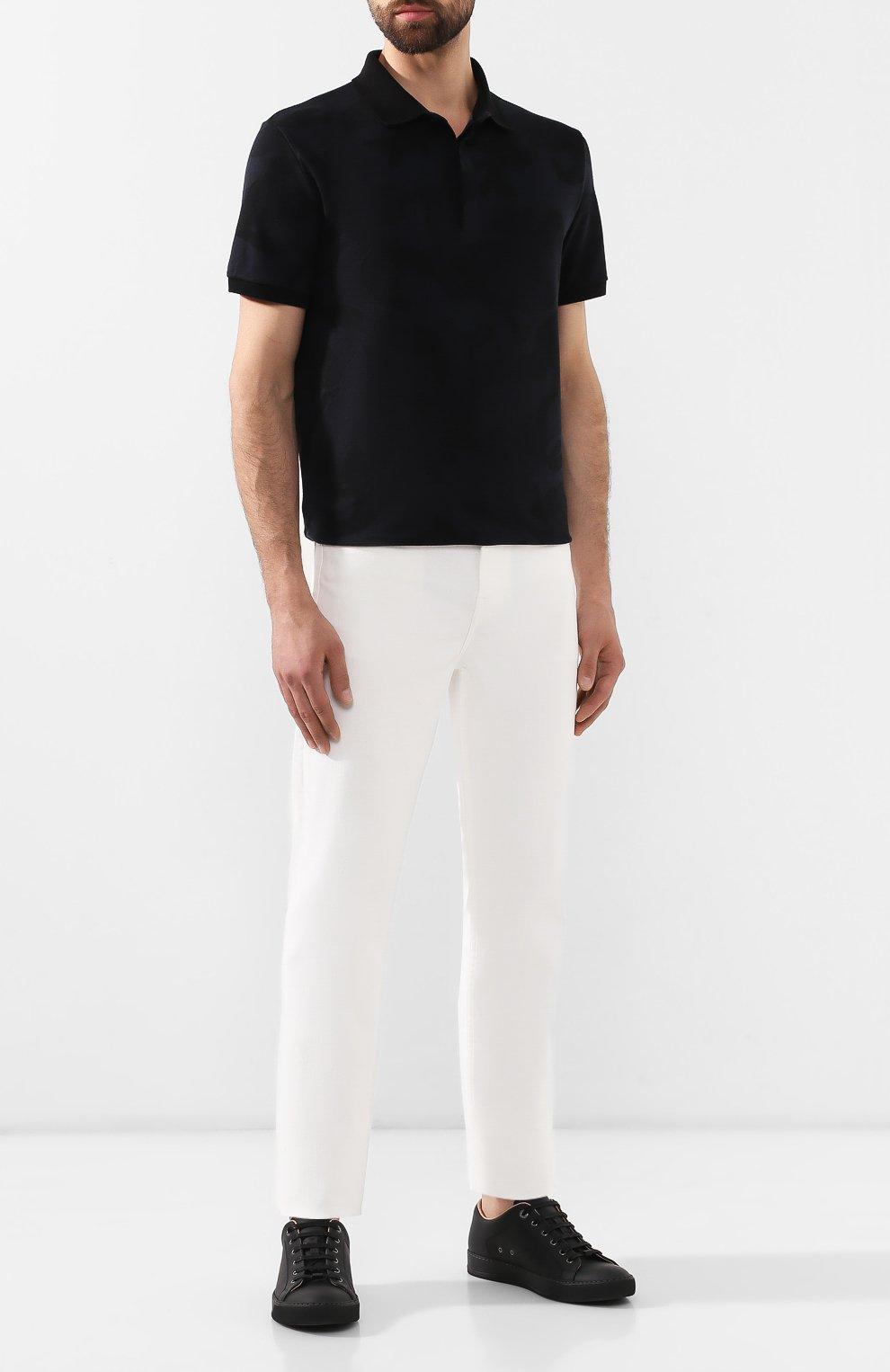 Мужское хлопковое поло VALENTINO черного цвета, арт. SV3MH00M3M2 | Фото 2