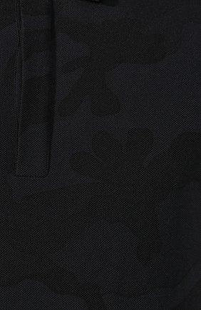 Мужское хлопковое поло VALENTINO черного цвета, арт. SV3MH00M3M2 | Фото 5