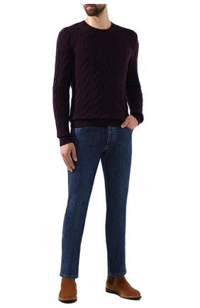 Мужской кашемировый джемпер RALPH LAUREN фиолетового цвета, арт. 790509405   Фото 2