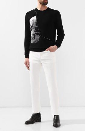 Мужской шерстяной свитер ALEXANDER MCQUEEN черного цвета, арт. 587031/Q1AL0 | Фото 2