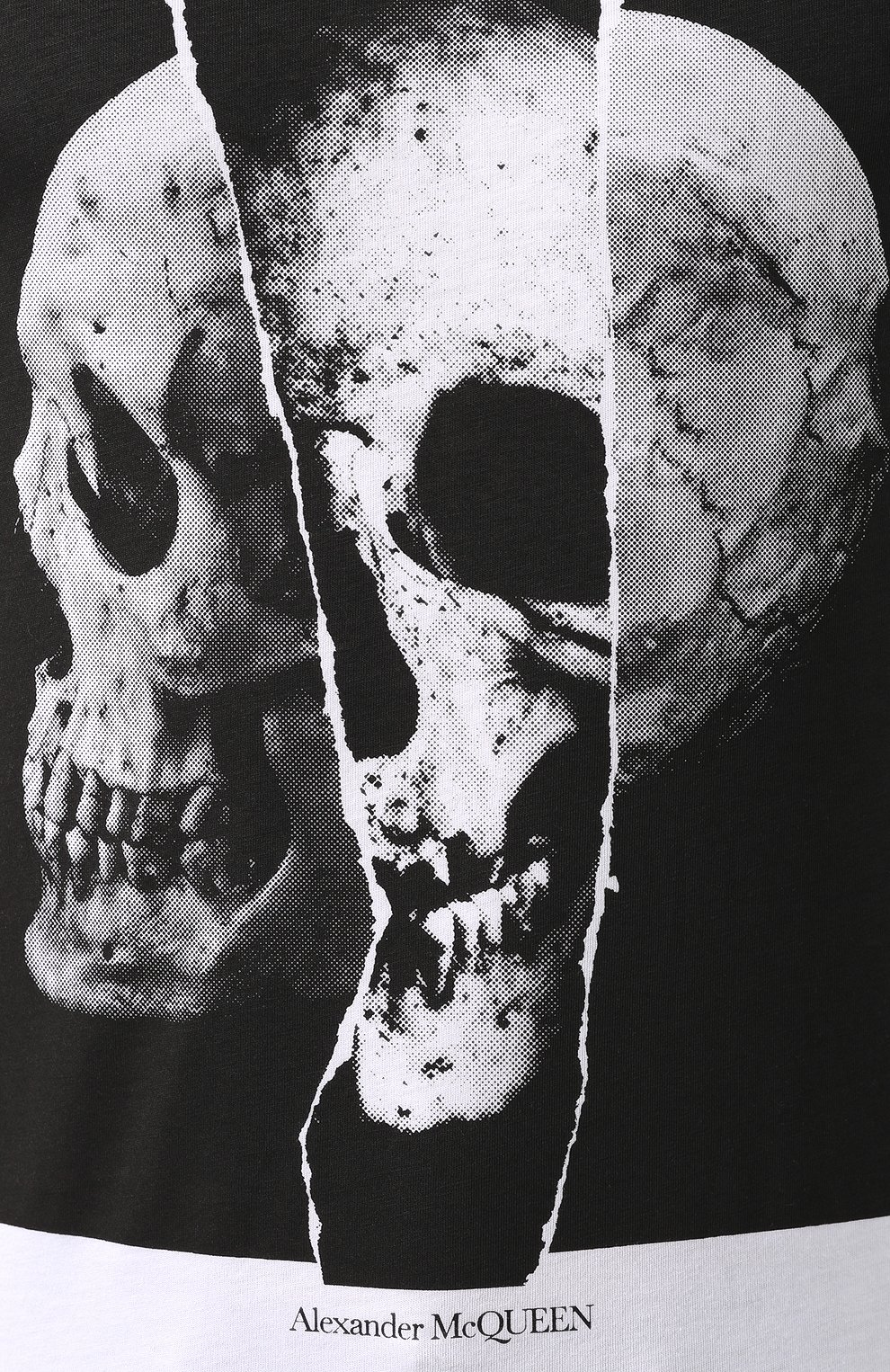 Мужская хлопковая футболка ALEXANDER MCQUEEN белого цвета, арт. 582923/QNZ8B   Фото 5