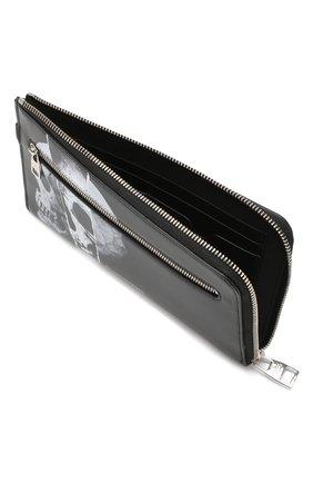 Мужской кожаный футляр ALEXANDER MCQUEEN черного цвета, арт. 575777/1IG3N | Фото 3