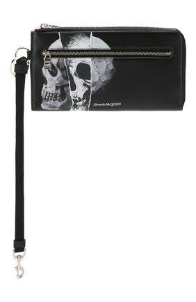 Мужской кожаный футляр ALEXANDER MCQUEEN черного цвета, арт. 575777/1IG3N | Фото 4
