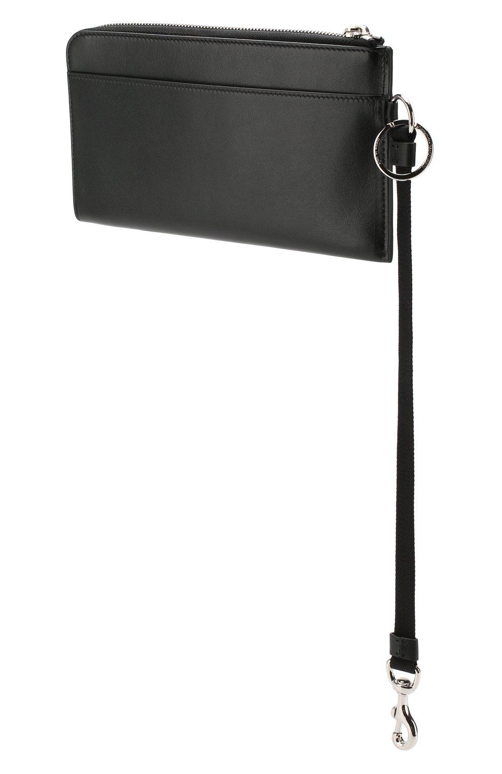 Мужской кожаный футляр ALEXANDER MCQUEEN черного цвета, арт. 575777/1IG3N | Фото 5