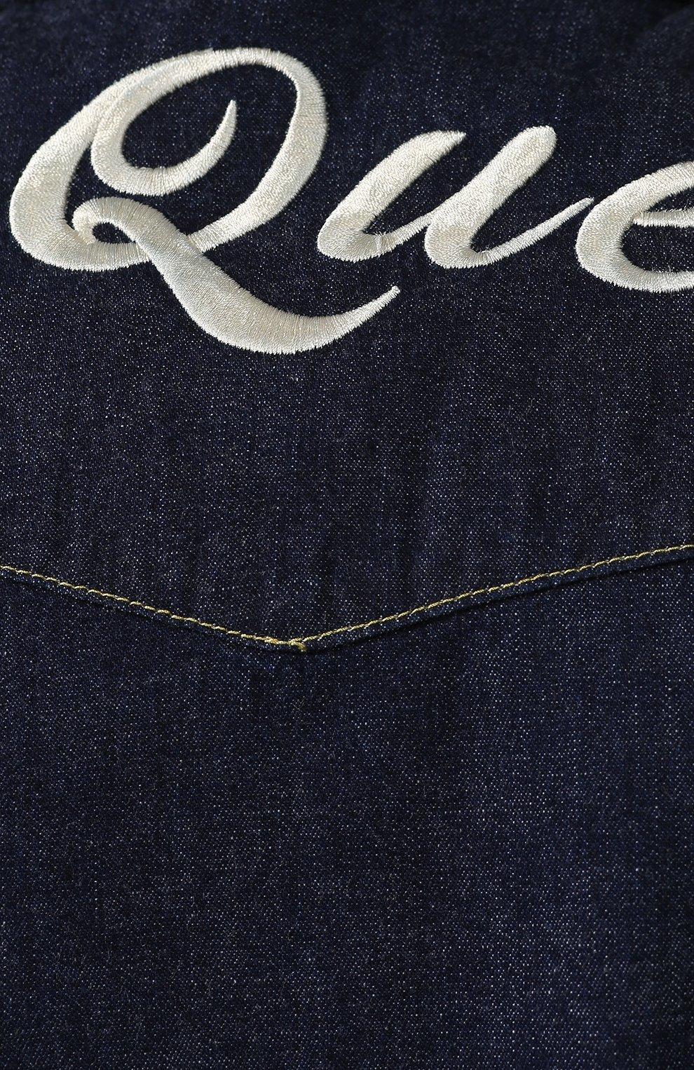 Мужская хлопковая рубашка ALEXANDER MCQUEEN синего цвета, арт. 567872/QNY62 | Фото 5
