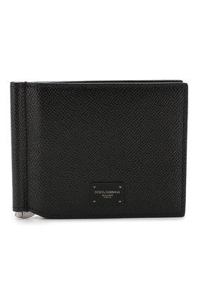 Мужской кожаный зажим для денег DOLCE & GABBANA черного цвета, арт. BP1920/AZ602 | Фото 1