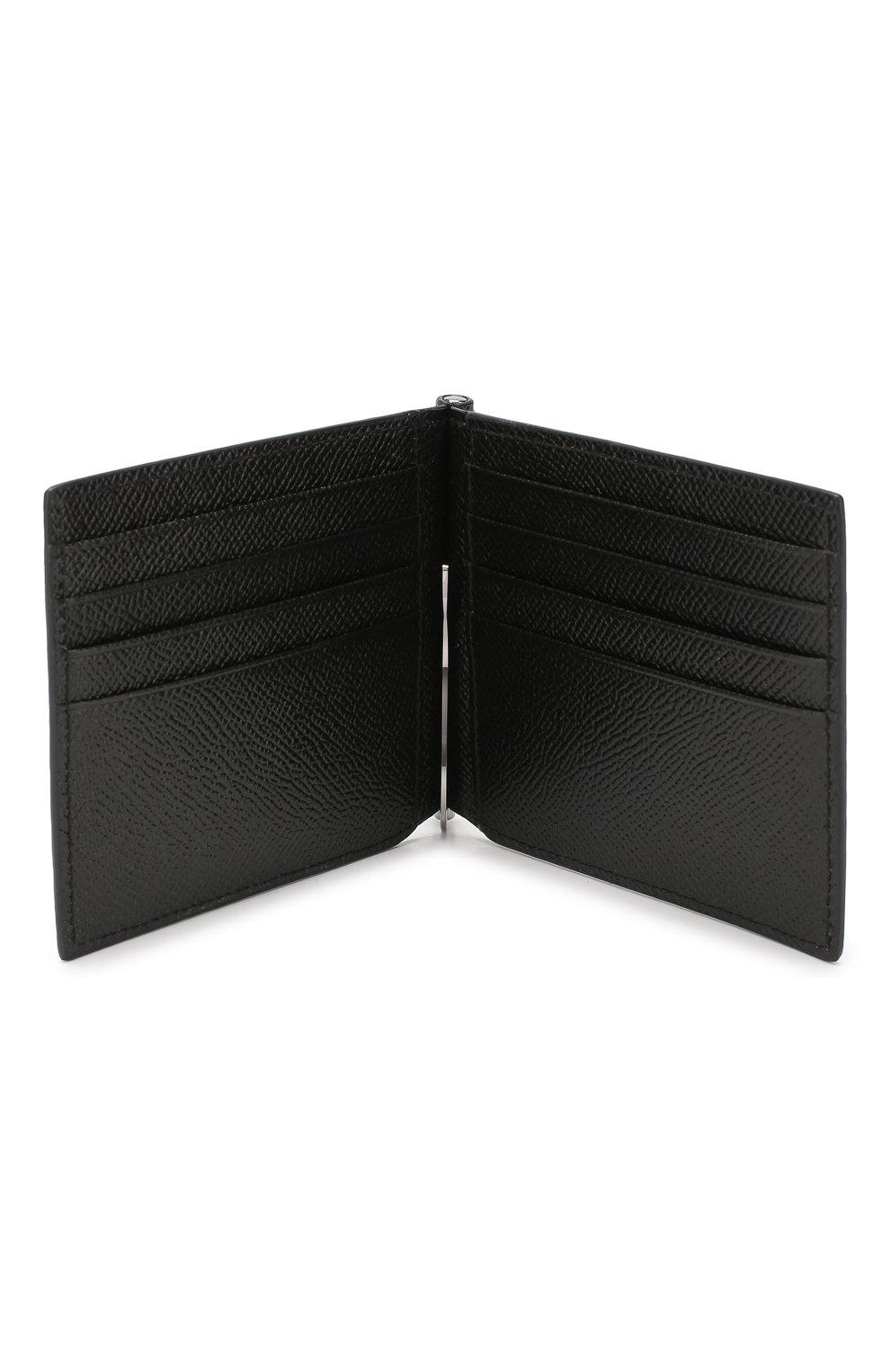 Мужской кожаный зажим для денег DOLCE & GABBANA черного цвета, арт. BP1920/AZ602 | Фото 3