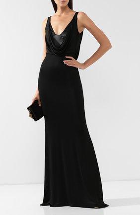 Женское платье-макси PHILIPP PLEIN черного цвета, арт. WRG1231 | Фото 2