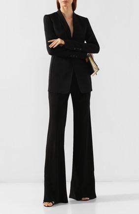 Женские расклешенные брюки RICK OWENS черного цвета, арт. RP19F5301/CC   Фото 2