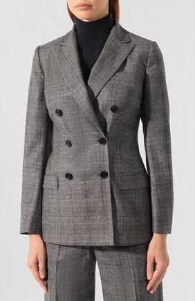 Женский жакет из смеси шерсти и кашемира KITON серого цвета, арт. D46523K04S31 | Фото 3