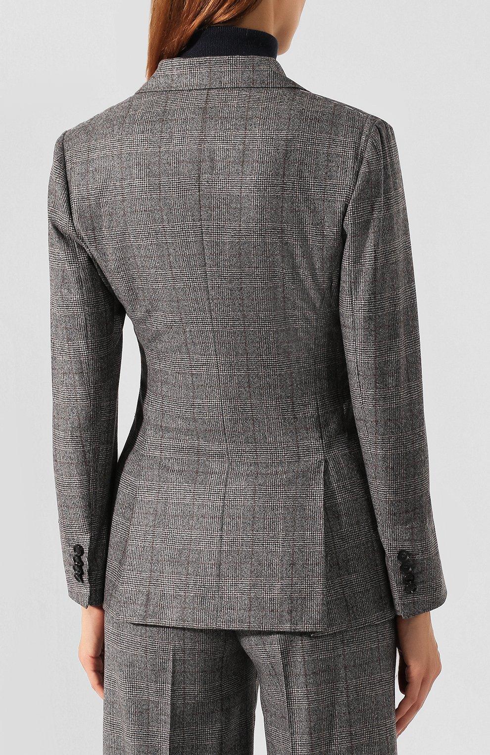 Женский жакет из смеси шерсти и кашемира KITON серого цвета, арт. D46523K04S31 | Фото 4
