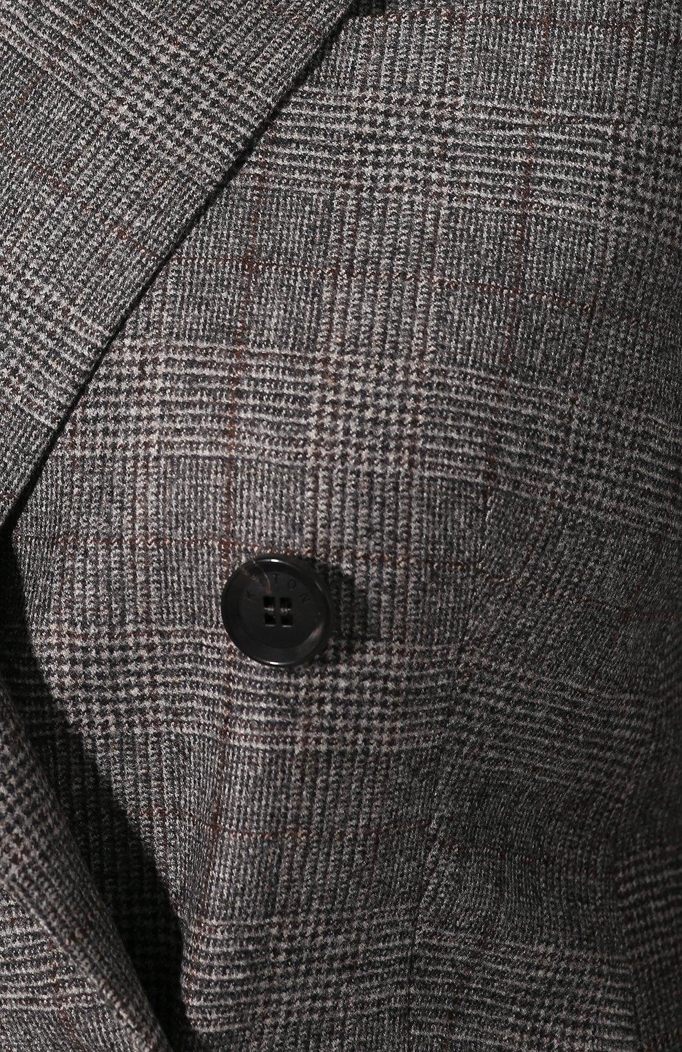 Женский жакет из смеси шерсти и кашемира KITON серого цвета, арт. D46523K04S31 | Фото 5