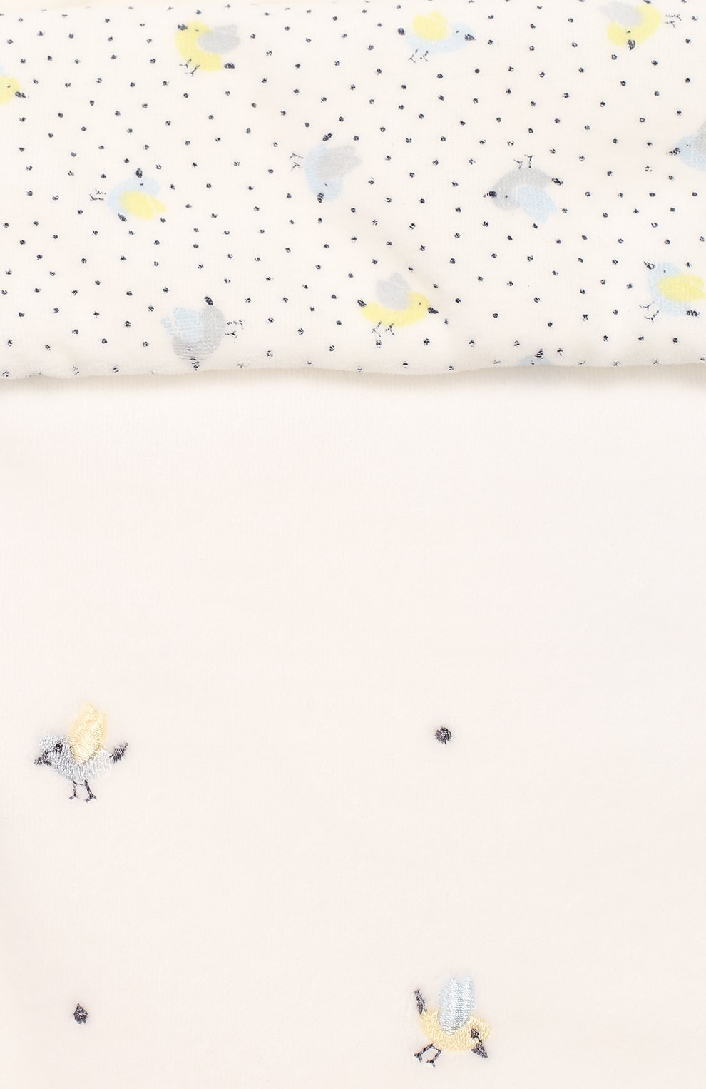 Детский конверт в автокресло птички-невелички CHEPE белого цвета, арт. 071039 | Фото 3