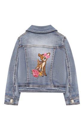 Детского джинсовая куртка MONNALISA синего цвета, арт. 394100A3 | Фото 2