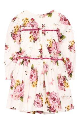 Женский хлопковое платье MONNALISA белого цвета, арт. 314903AH | Фото 2