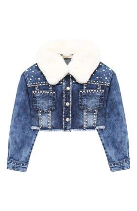 Укороченная джинсовая куртка | Фото №1