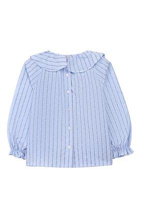 Детский хлопковая блузка GUCCI голубого цвета, арт. 577935/ZAB8T | Фото 2