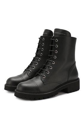 Женские кожаные ботинки GIUSEPPE ZANOTTI DESIGN черного цвета, арт. I970003/001 | Фото 1