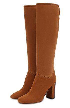 Женские замшевые сапоги jeanne LORO PIANA коричневого цвета, арт. FAI2296 | Фото 1