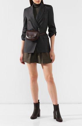 Женские кожаные ботильоны BRUNELLO CUCINELLI темно-серого цвета, арт. MZAMC1622 | Фото 2