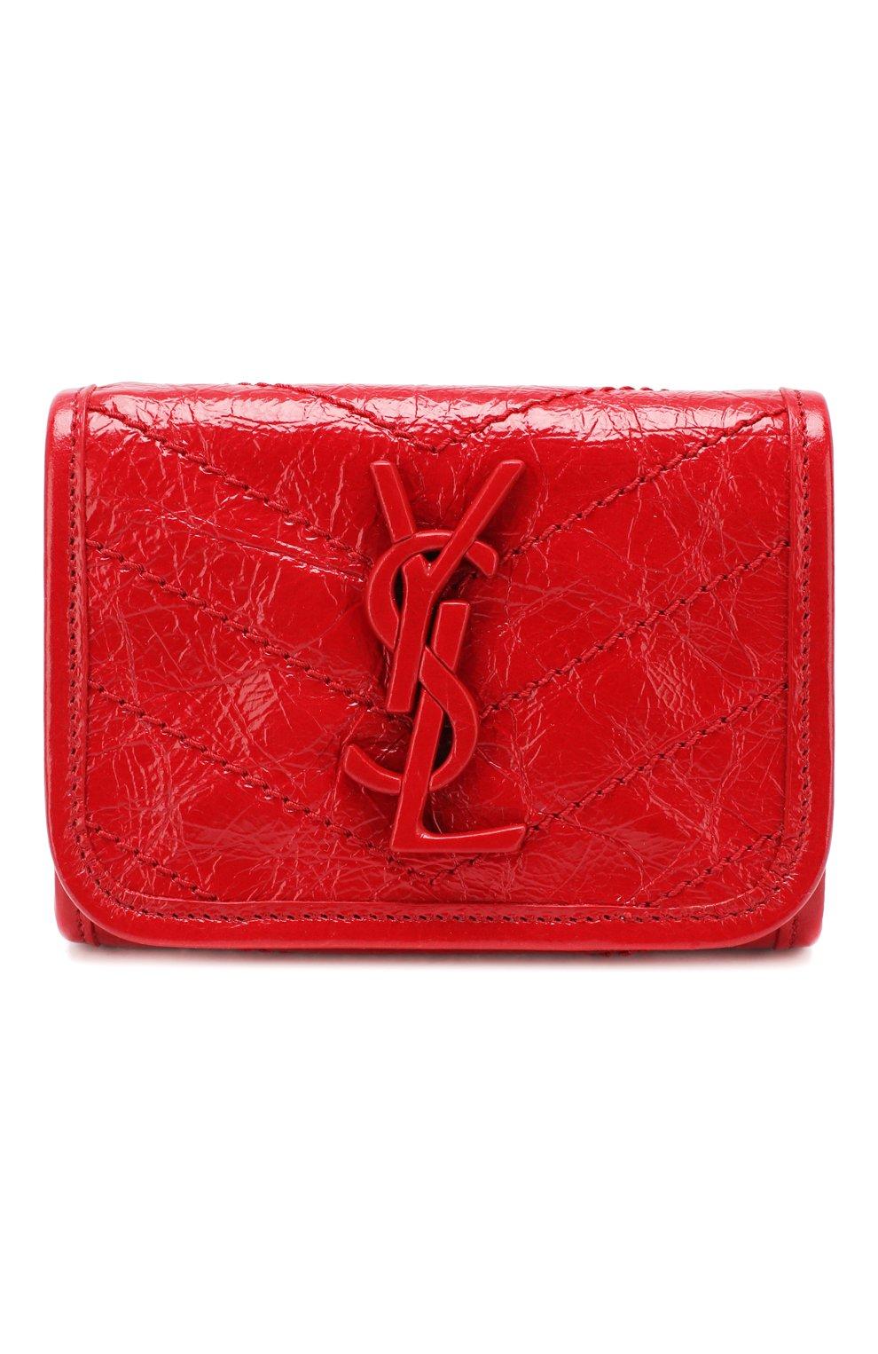 Женские кожаное портмоне niki SAINT LAURENT красного цвета, арт. 583570/0EN04 | Фото 1