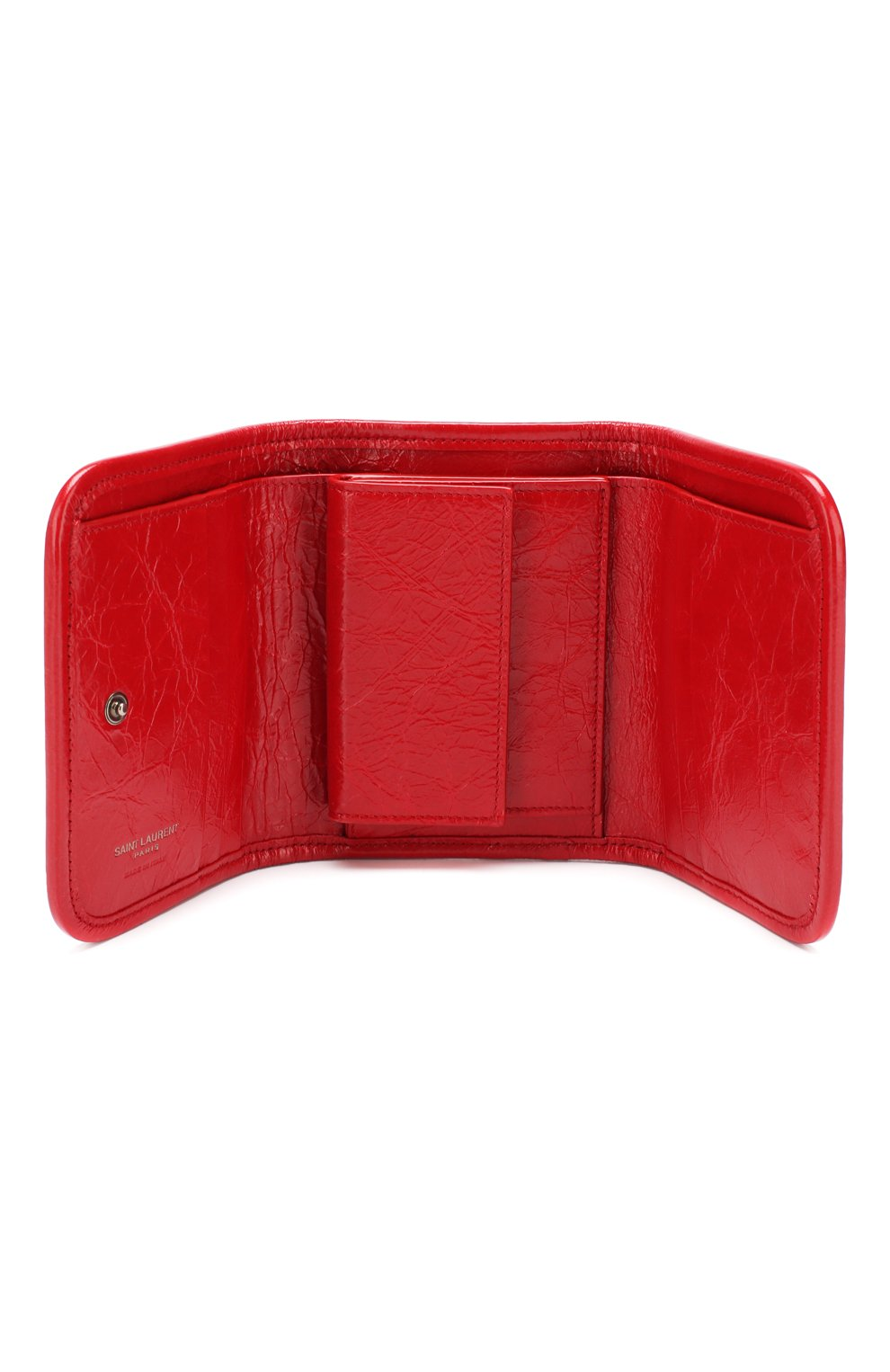 Женские кожаное портмоне niki SAINT LAURENT красного цвета, арт. 583570/0EN04 | Фото 3