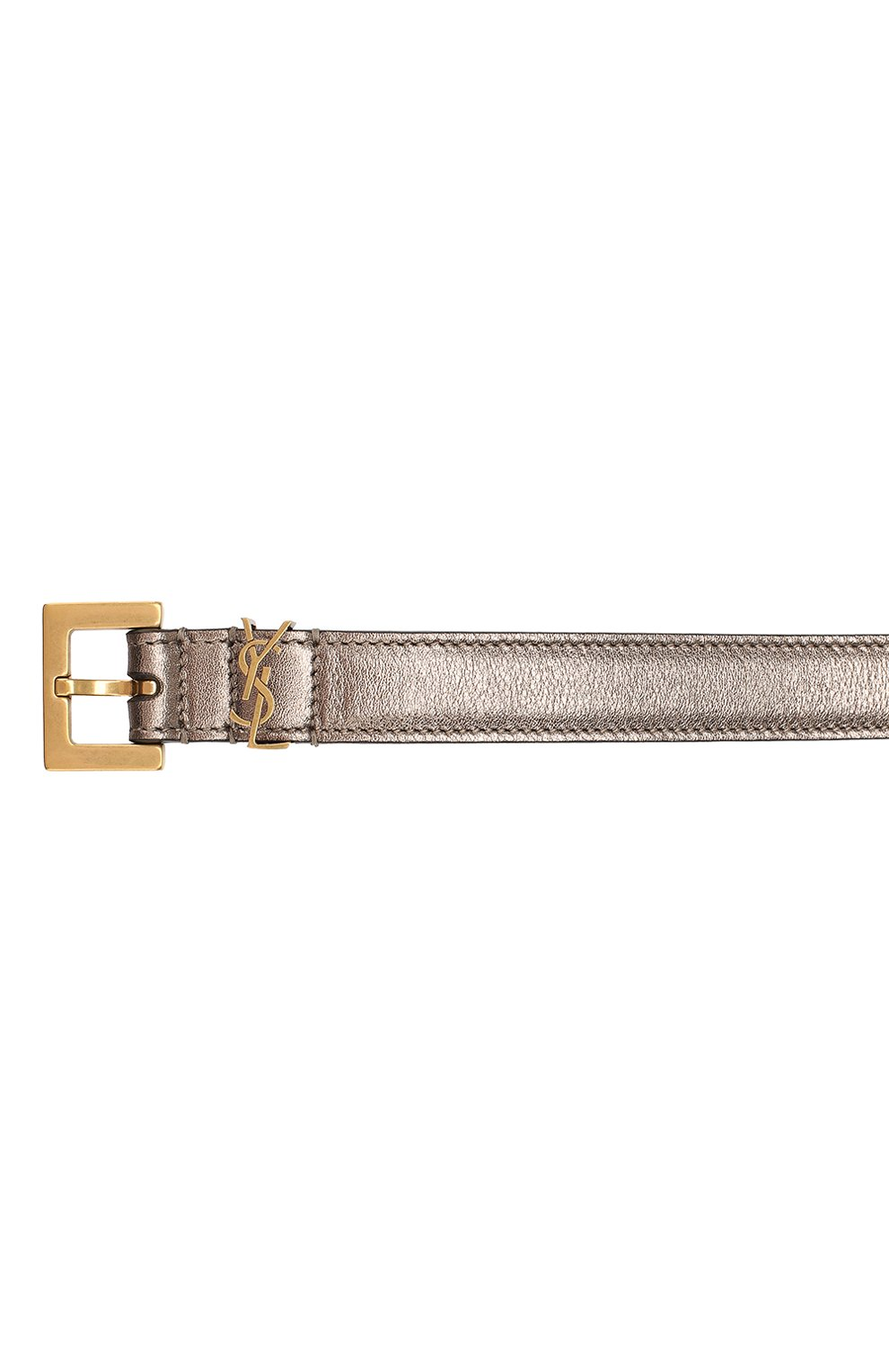 Женский кожаный ремень SAINT LAURENT серебряного цвета, арт. 554465/09E0W | Фото 3