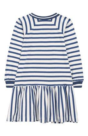 Детское хлопковое платье MONNALISA голубого цвета, арт. 194901R6 | Фото 2
