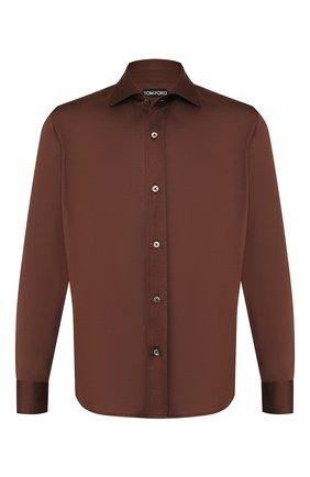Мужская сорочка TOM FORD светло-коричневого цвета, арт. BT248/TFJ941 | Фото 1