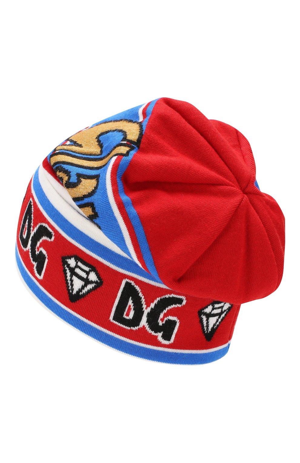 Мужская шерстяная шапка DOLCE & GABBANA разноцветного цвета, арт. GX458T/JAMSZ | Фото 2