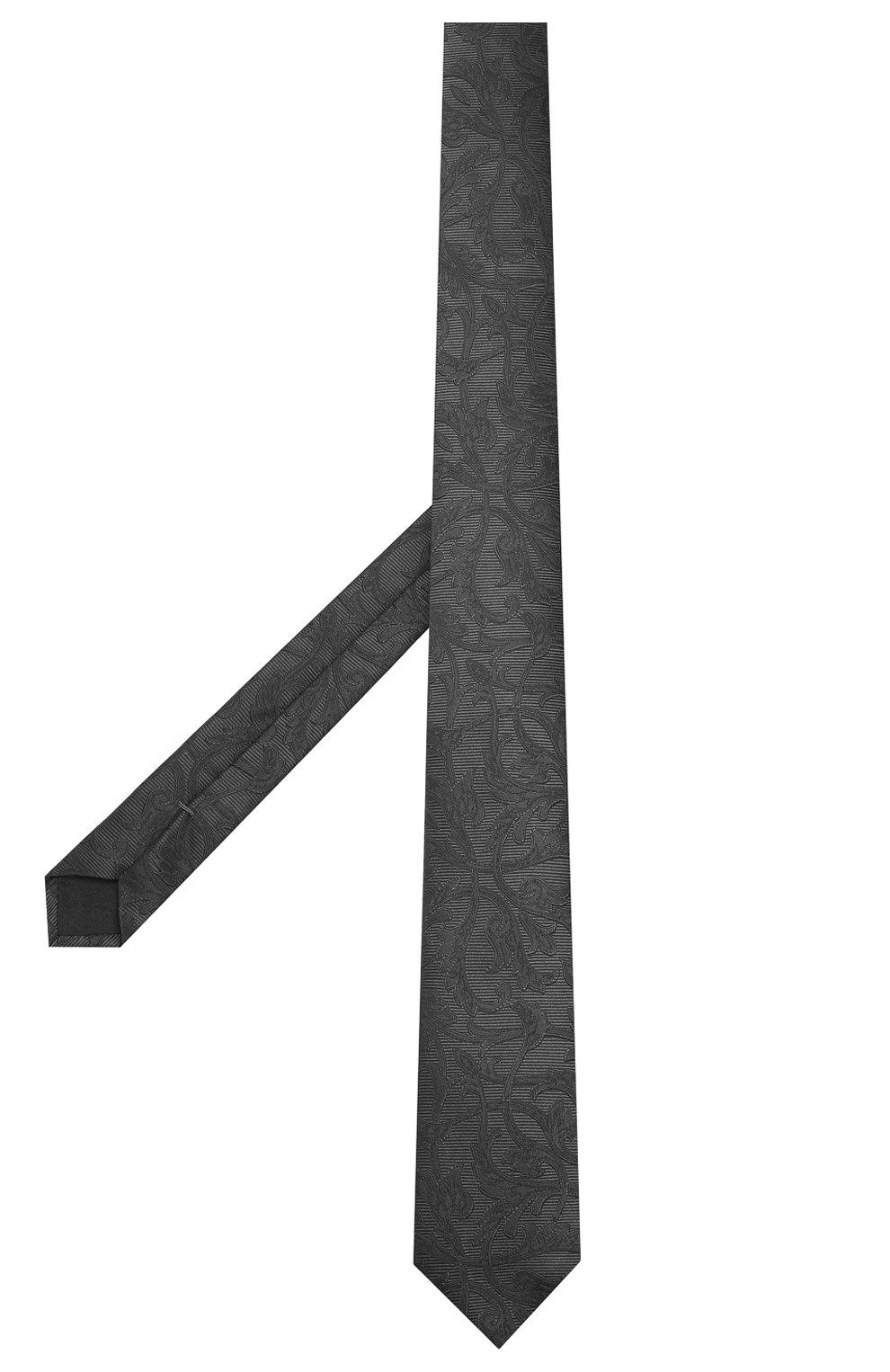 Мужской шелковый галстук DOLCE & GABBANA серого цвета, арт. GT149E/G0JKC | Фото 2