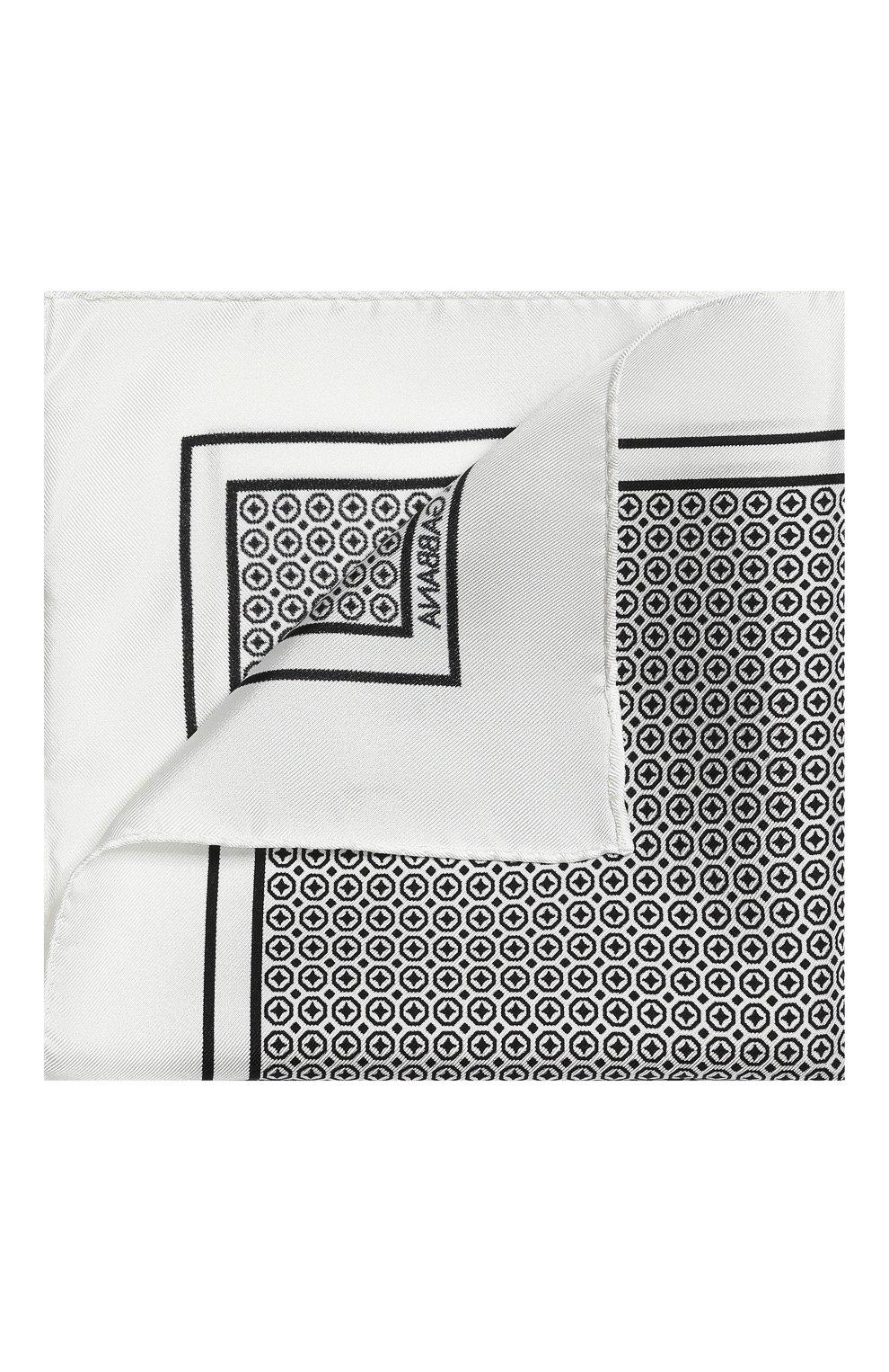 Мужской шелковый платок DOLCE & GABBANA черно-белого цвета, арт. GR412E/G0T01 | Фото 1