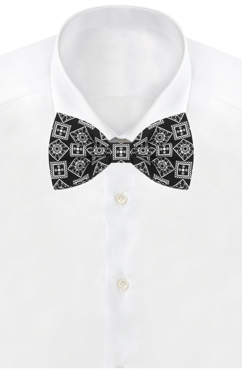 Мужской шелковый галстук-бабочка DOLCE & GABBANA черного цвета, арт. GR053E/G0WKN   Фото 2