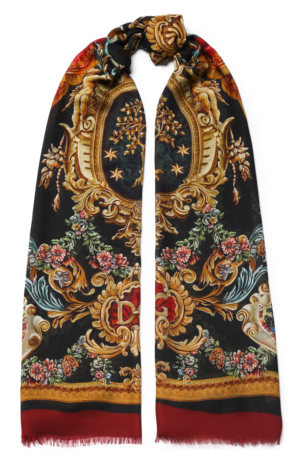 Мужской шарф DOLCE & GABBANA разноцветного цвета, арт. GQ213E/G3SEP | Фото 1
