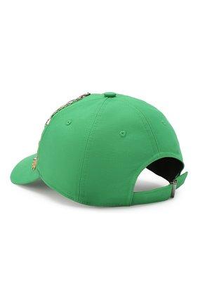 Мужской хлопковая бейсболка DOLCE & GABBANA зеленого цвета, арт. GH590Z/FUFI0 | Фото 2