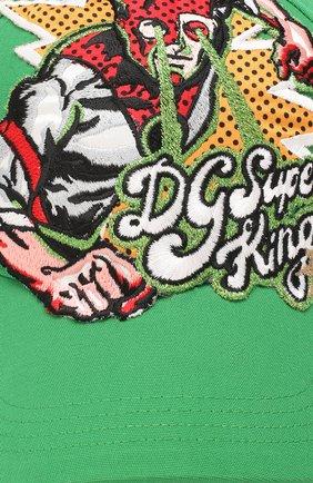 Мужской хлопковая бейсболка DOLCE & GABBANA зеленого цвета, арт. GH590Z/FUFI0 | Фото 3