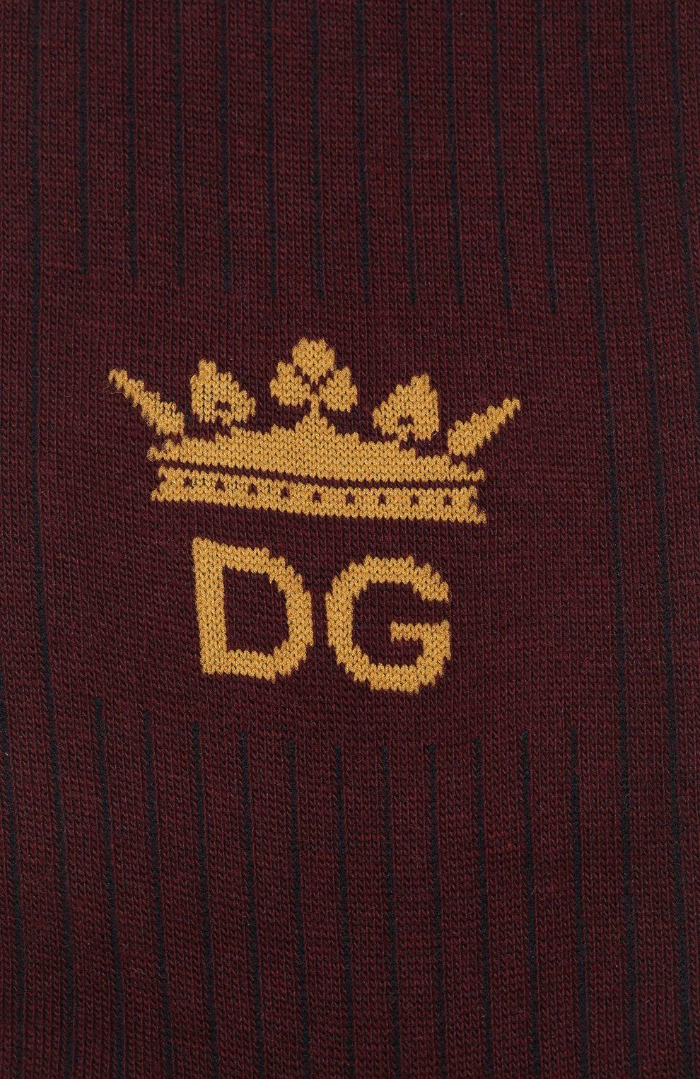 Мужские хлопковые носки DOLCE & GABBANA бордового цвета, арт. GC126A/G1JCX | Фото 2