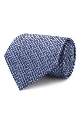 Мужской шелковый галстук BRIONI голубого цвета, арт. 062I00/08452 | Фото 1