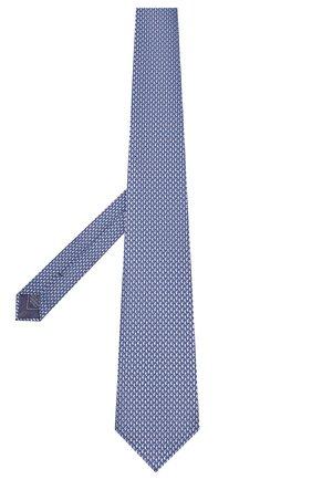 Мужской шелковый галстук BRIONI голубого цвета, арт. 062I00/08452 | Фото 2